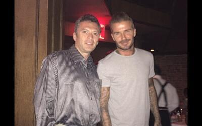 Jorge Higuera y David Beckham