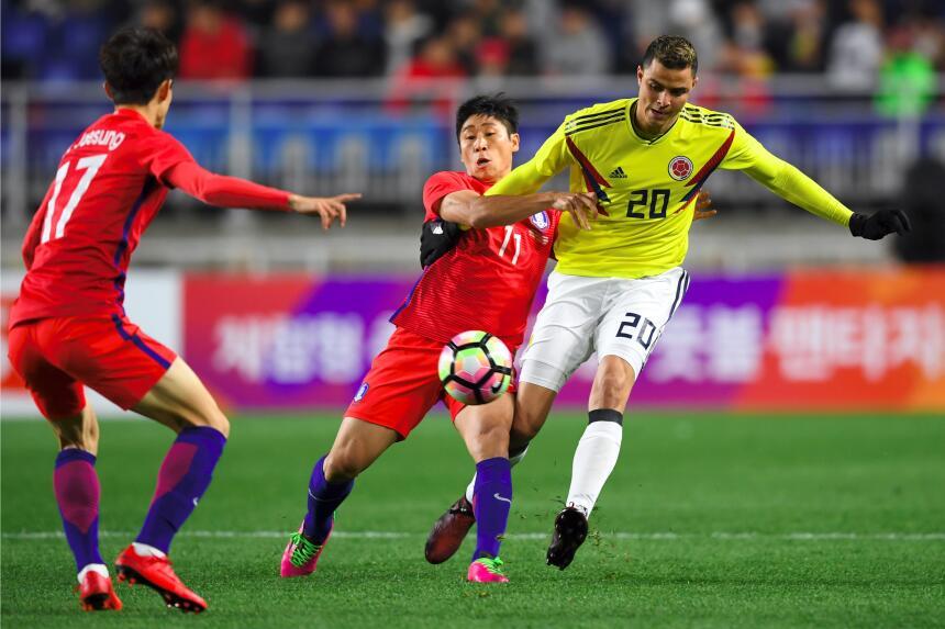 Colombia tropezó en su visita a Corea del Sur gettyimages-872455252.jpg
