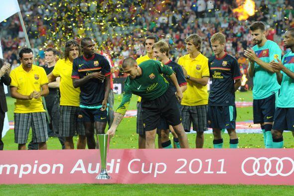 Al final del partido llegó el momento para la celebración.