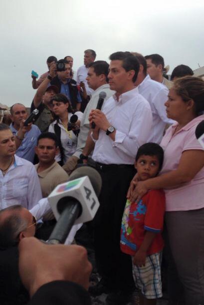 Peña Nieto llegó a Ciudad Acuña el lunes por la noche, y desde su llegad...