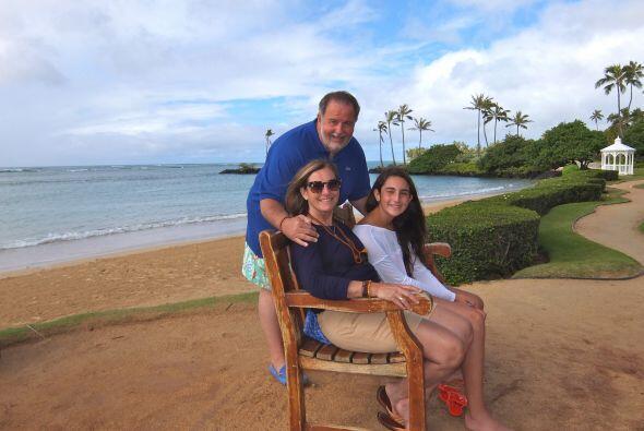 Esta feliz familia la pasó de lo lindo con un clima muy caluroso.
