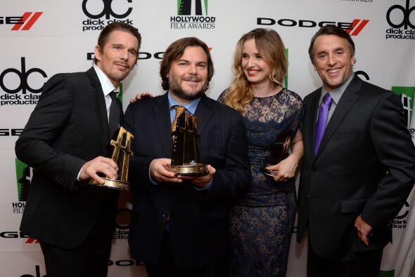 Ethan Hawke, Jack Black, Julie Delpy y el director Richard Linklater.Mir...