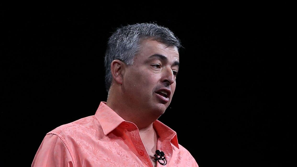 El vicepresidente de Apple Eddy Cue en un evento en San Francisco en 2015