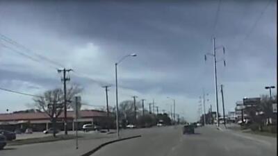 Así persiguió una patrulla de Texas a un narcotraficante que huía en su auto negro