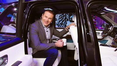 Alan Tacher quedó impresionado al conocer la SUV más cara del mundo (que tiene hasta refrigerador)