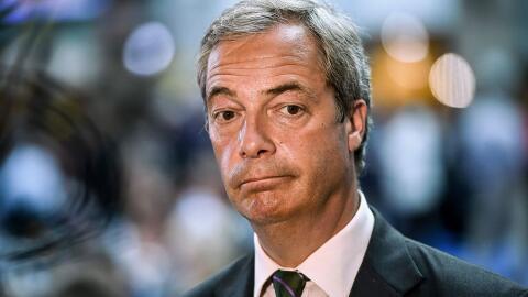 Farage, que es miembro del Parlamento Europeo, lleva años apoyand...