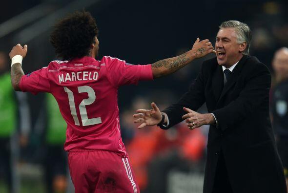 Instantes después, Marcelo anotó tremendo golazo que se clavó en el ángu...