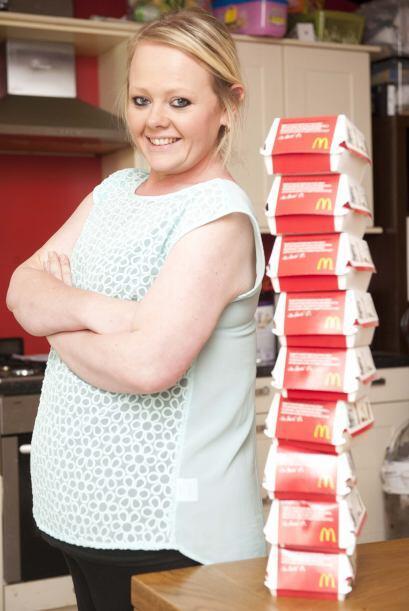 La madre de 34 años, se declaró completamente adicta a McDonalds, y como...