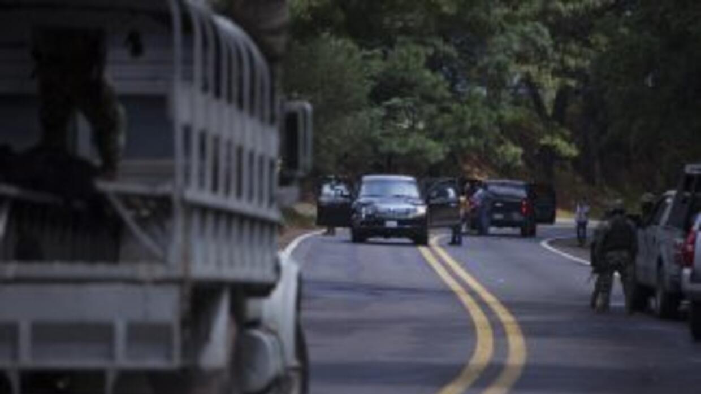 Imagen de la balacera que sufrieron dos funcionarios estadounidenses y u...