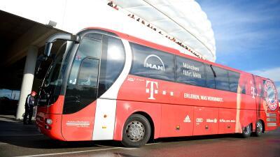 El autobús del Bayern Munich tuvo un percance en Londres