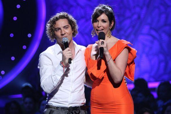 Junto con Giselle, David le deseó mucha suerte a las participantes y adm...