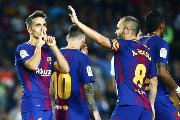 Faena de Messi en la goleada 6-1 del Barcelona sobre Eibar 6364146029628...