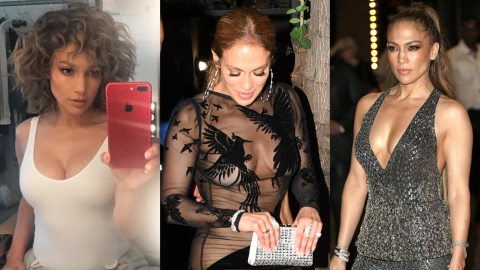 Jennifer López y sus diferentes formas de lucir escote.