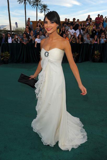 En 2009 llegó con un vestido blanco lindísimo.
