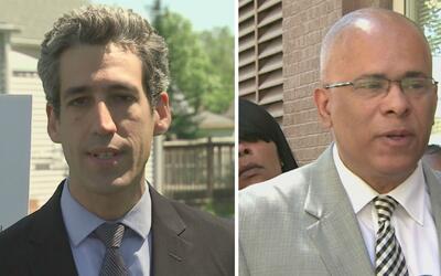 Daniel Biss y Tio Hardiman, dos de los ocho precandidatos demócratas a l...