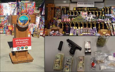 La venta ilegal de fuegos artificiales vinculada a pandilleros.