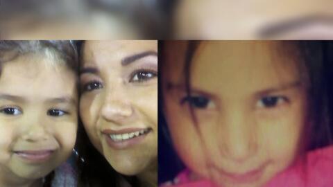 A la izquierda Karina González y una de sus hijas. A la derecha,...