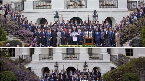 Así fueron las visitas de los Patriots a la Casa Blanca en 2015 y 2017.