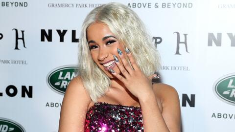 Rapper Cardi B poses for a photo at the NYLON's Rebel Fashion Party at t...