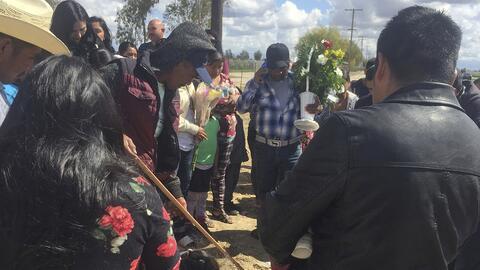 Vigilia en Delano, California, de una pareja de mexicanos que muri&oacut...