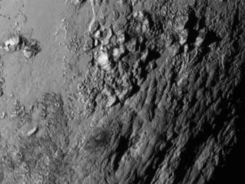 Este primer plano muestra a una región cerca del ecuador de Plut&...