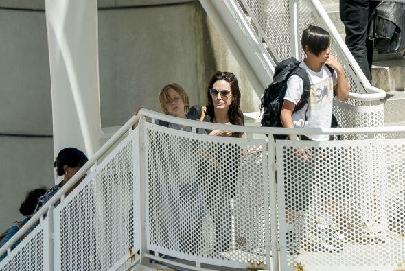 Angelina con sus nenes...