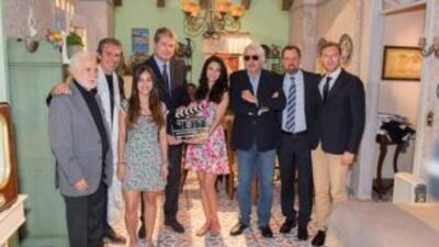 Luego de realizar algunas escenas en Italia, el elenco de la telenovela...