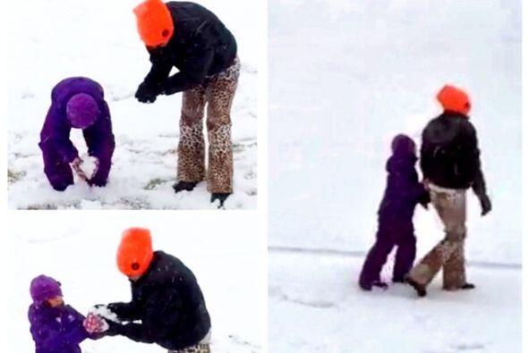 En la nieve con Sabrina.