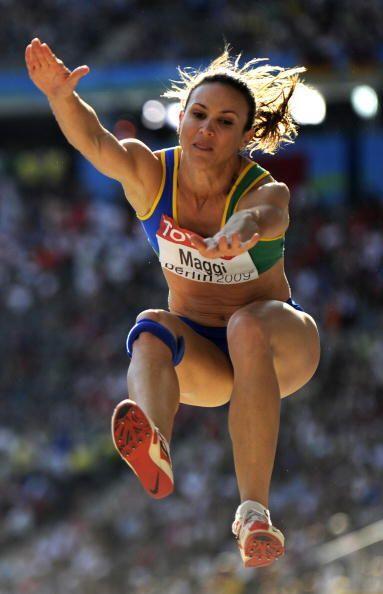 La brasileña Maurren Higa terminó en el undécimo sitio del salto de long...