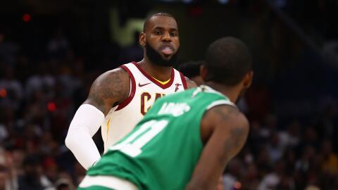 LeBron James y sus Cavs ganaron la primera batalla a Kyrie y sus Celtics.