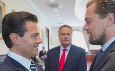 DiCaprio se reunió con el presidente de México para salvar especie en pe...