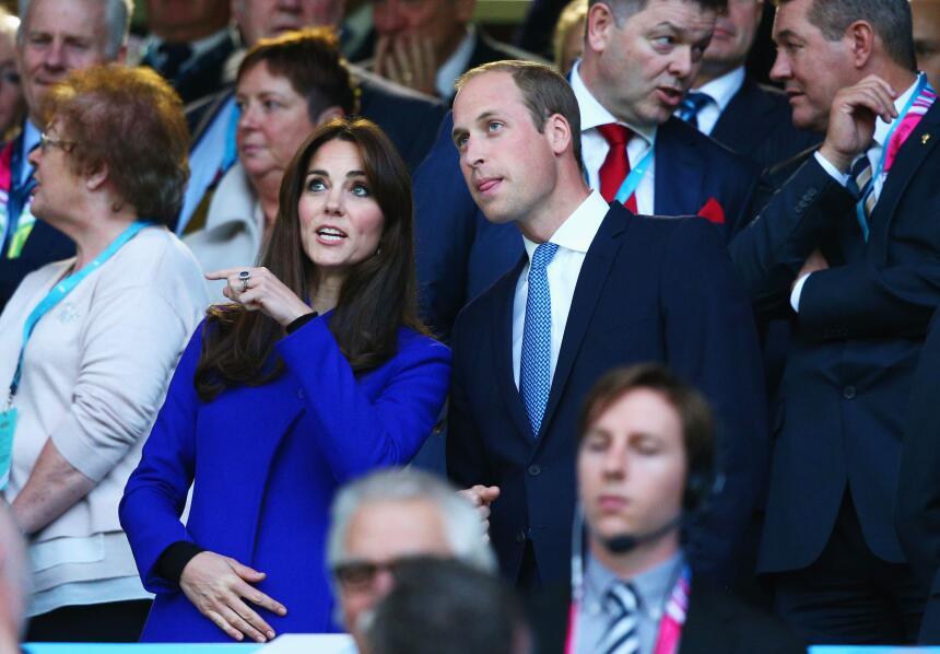 William y Kate durante la ceremonia de inauguración.