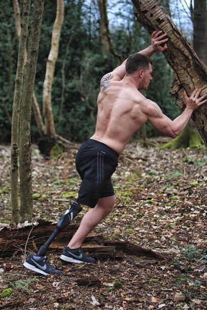 Luego de amputar su pierna, Jack se dedicó por completo al ejercicio.