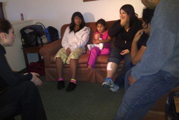 Esta familia dice que de milagro sobrevivieron.