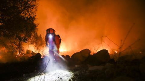 Incendios en Santa Paula, California.