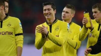 Lewandowski hizo el tanto del triunfo final para el actual campeón de la...