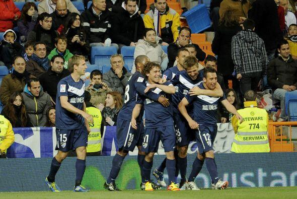 Un gran tanto para Málaga, a pesar de que en todo el juego el dominio fu...