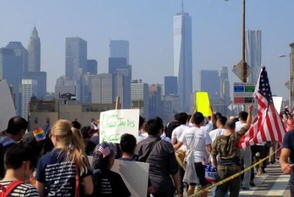 Nueva York se sumó a las marchas por la reforma migratoria desde las pri...