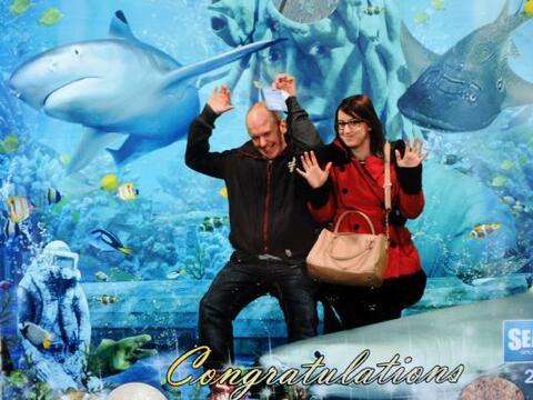 Emma y Ashley fueron de paseo al acuario de Norfolk, en el Reino Unido.