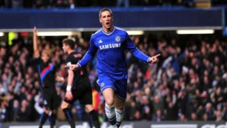 Fernando Torres celebra el primero del Chelsea contra Crystal Palace.