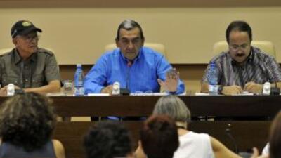 En una rueda de prensa ofrecida en La Habana, el también guerrillero Mau...