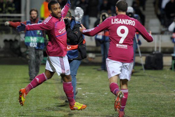 El único tanto lo anotó Alexandre Lacazette a los 57 minutos.