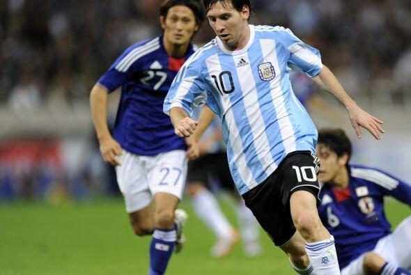 Messi se quedó con un sabor amargo por no poder convertir.