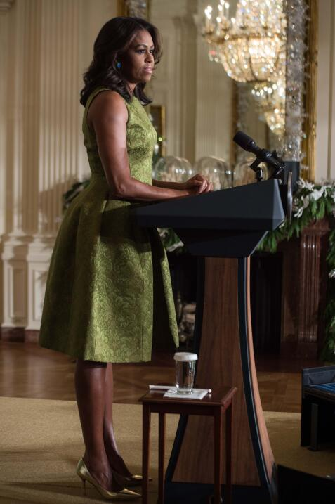 Michelle Obama y su optimismo hecho vestido 