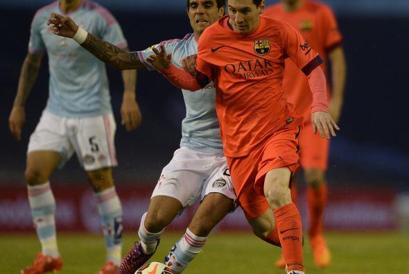 Messi no pudo lucir ante un Celta de Vigo aguerrido capaz de destruir la...