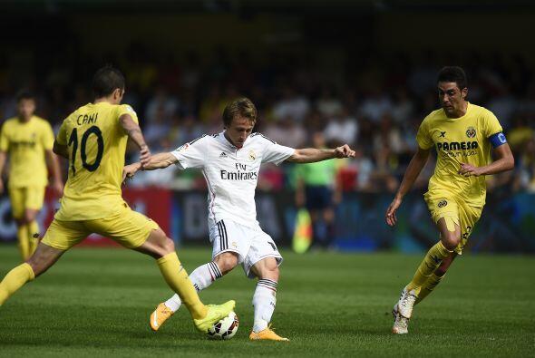 Modric repartió juego y abrió el marcador para el Madrid.