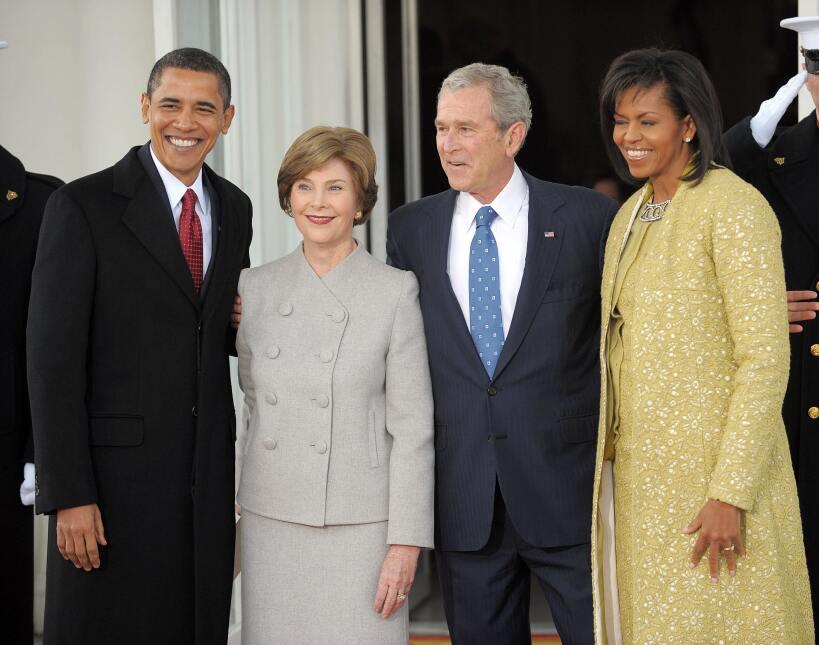 George W. Bush habla de su gran amiga... Michelle Obama GettyImages-8438...