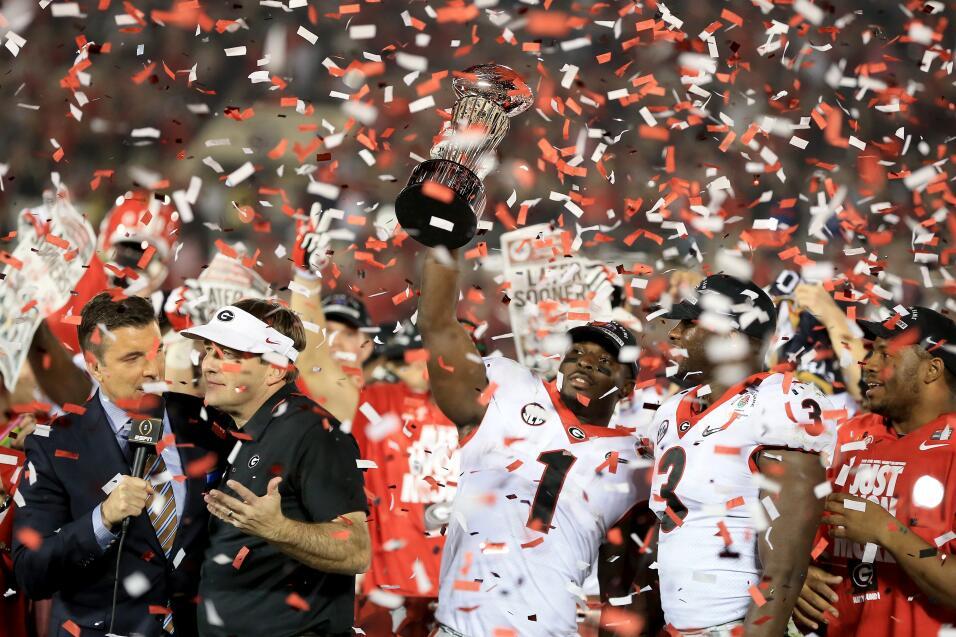 Georgia vence a Oklahoma en el Rose Bowl para ir a la Final de la NCAA g...