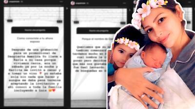Ana Patricia revela cómo eligieron el nombre Gael y su secreto para lucir tan bien durante y después del parto