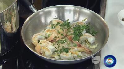 Sorprende a tus invitados con un rico plato de pasta con camarones